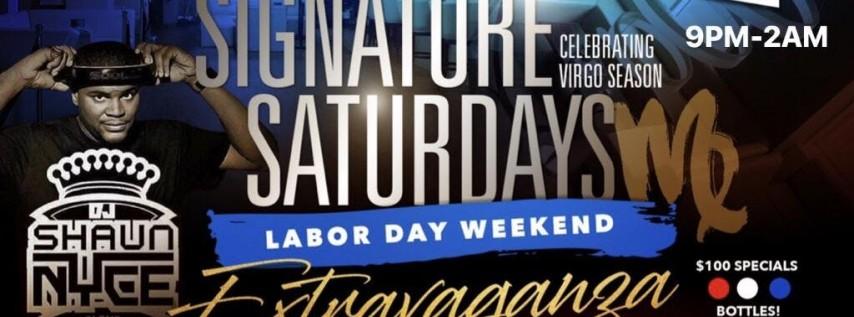 SIGNATURE SATURDAYS AT SAGE | Labor Day Weekend Edition | Shaun Nyce