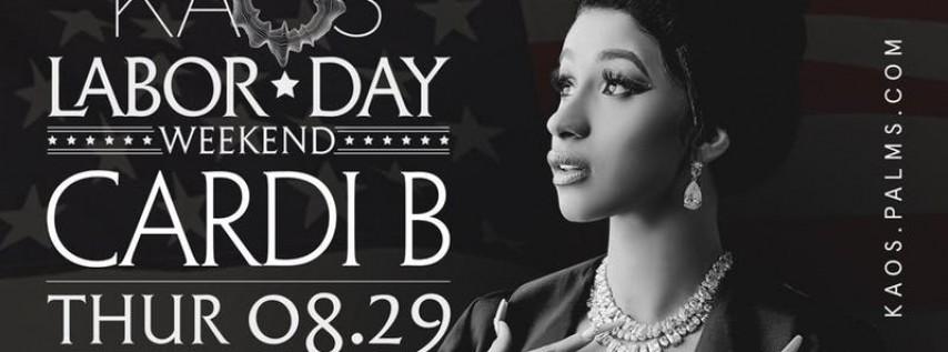 8.29 Cardi B Labor Day Weekend Party @ KAOS Nightclub Las Vegas
