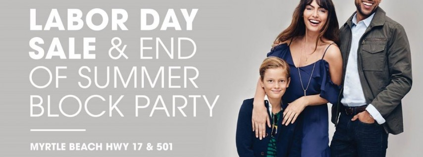 Labor Day Weekend Sale & Block Party Celebration