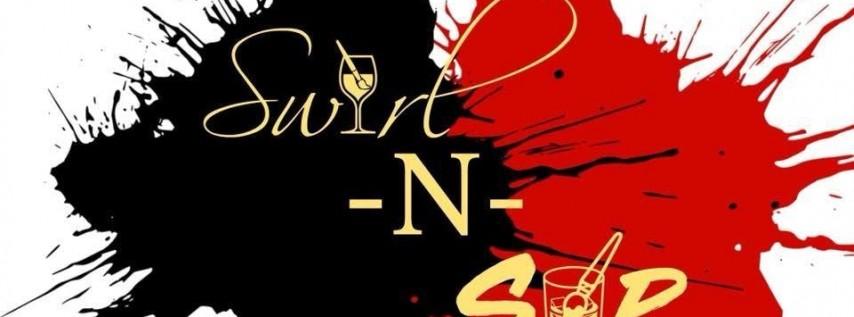 Swirl n Sip Christmas Edition. Paint, Drinks, Fun!