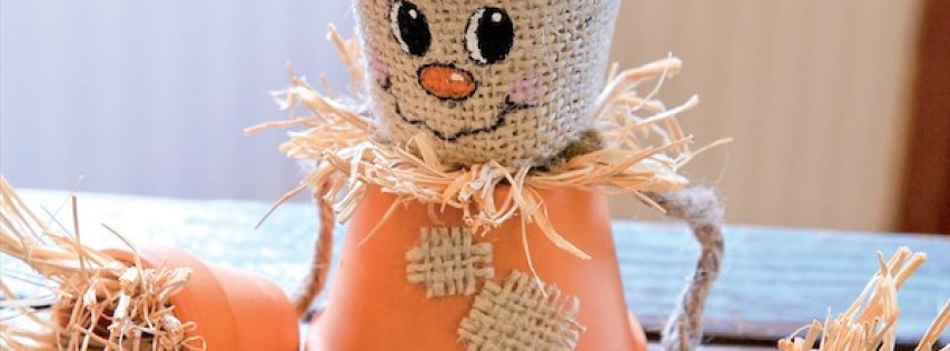 Crafty Corner: clay pot scarecrows