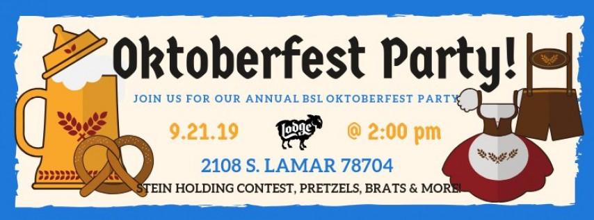 Annual Oktoberfest Party 2019