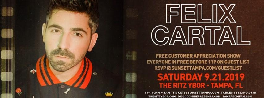 Felix Cartal – Free Guest List – Sunset Saturdays