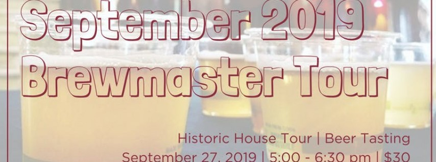 September Brewmaster Tour