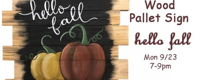 Wood Pallet-Hello Fall