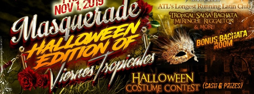 Halloween Masquerade Latin Night ATL Friday