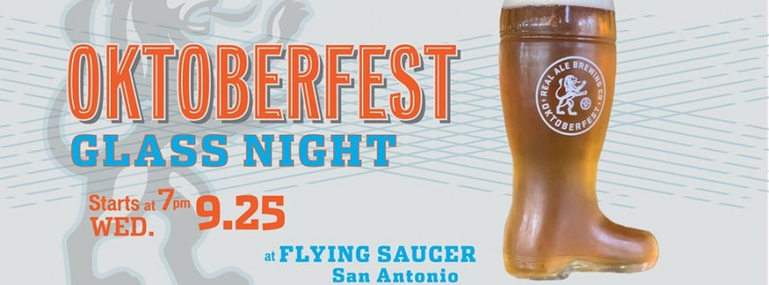 Real Ale Oktoberfest Boot Night at Flying Saucer San Antonio