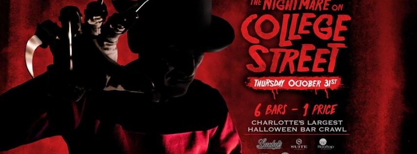 The Nightmare on College Street - Charlotte's Largest Halloween Bar Crawl