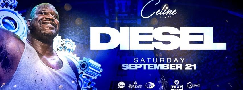 Shaq AKA DJ Diesel at Celine Orlando