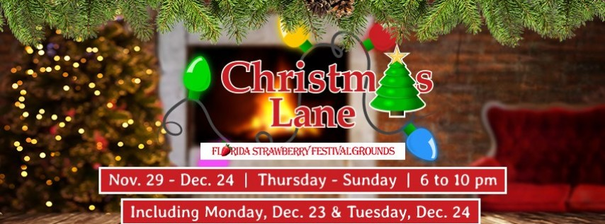 Christmas Event In Florida.2019 Christmas Lane Tampa Fl Dec 6 2019 6 00 Pm