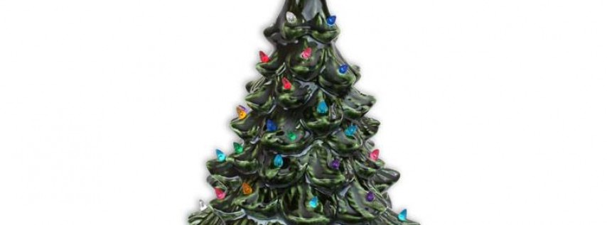Vintage Christmas Tree Painting
