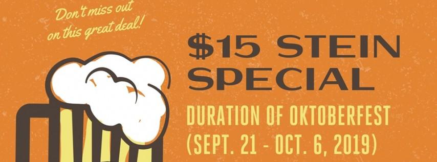 Oktoberfest Stein Special!