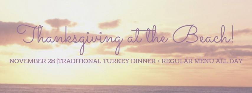 Thanksgiving Feast at the Beach