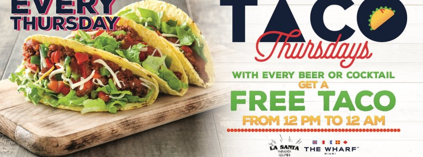Taco Thursdays! FREE TACO with every beer!
