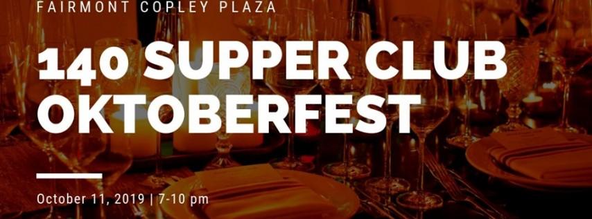 140 Supper Club Dinner: Oktoberfest