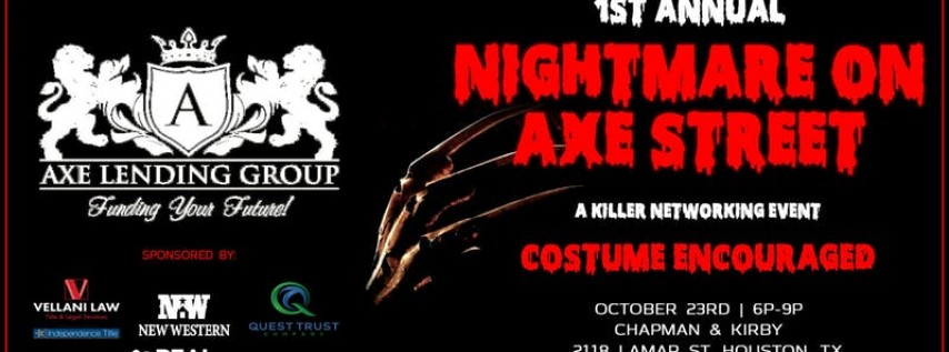 Nightmare On Axe Street | a Killer Networking Event