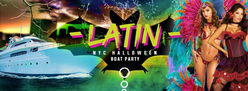 NYC #1 Official Latina Boat Party around Manhattan Halloween Yacht Cruise