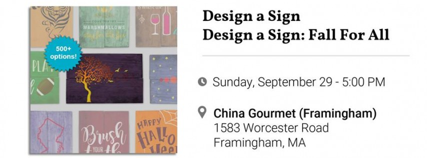Design A Sign: Fall For All!