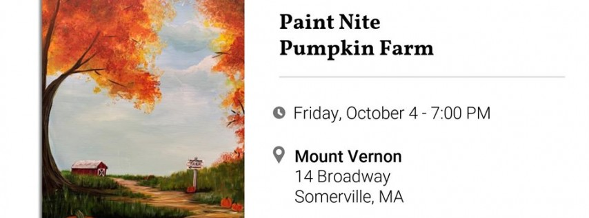 Paint Nite - Pumpkin Farm!