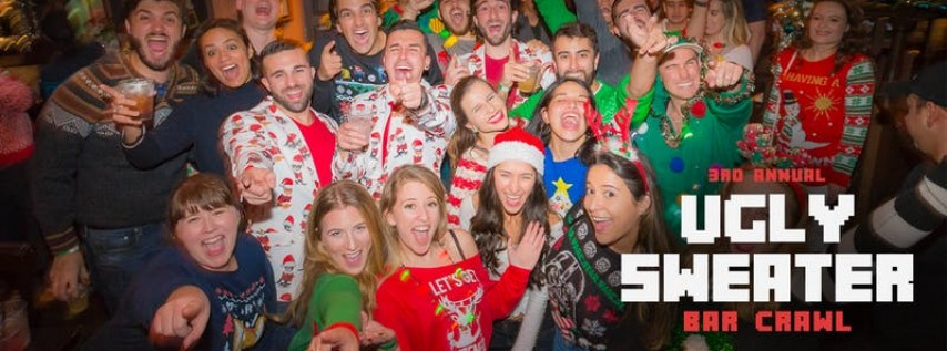 3rd Annual Ugly Sweater Bar Crawl in Brickell
