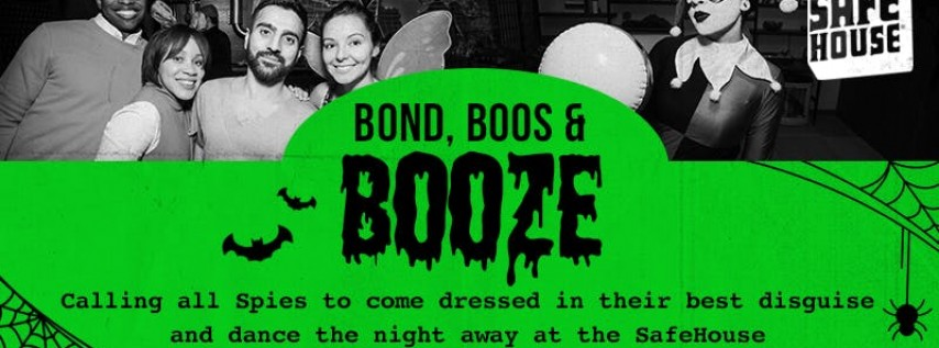 Bond, Boos and Booze Halloween Party