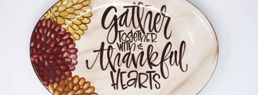 Adult Ceramic Paint: Gather Together Platter