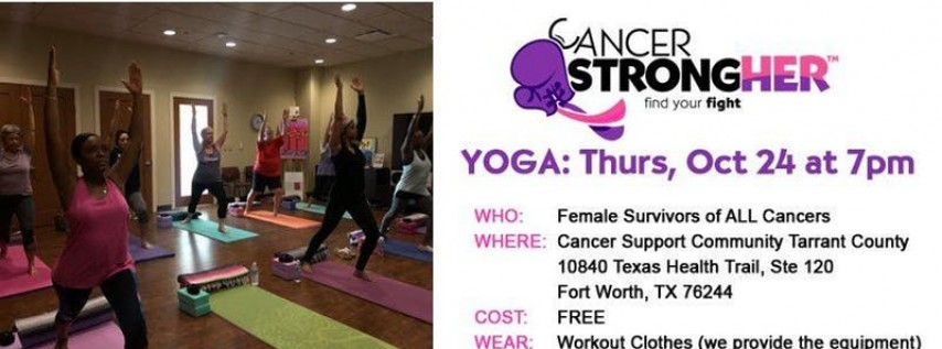 Cancer StrongHER Yoga - Free October 2019 Class