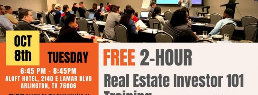 October 24th: FREE 2-HR Real Estate Investor 101 Training