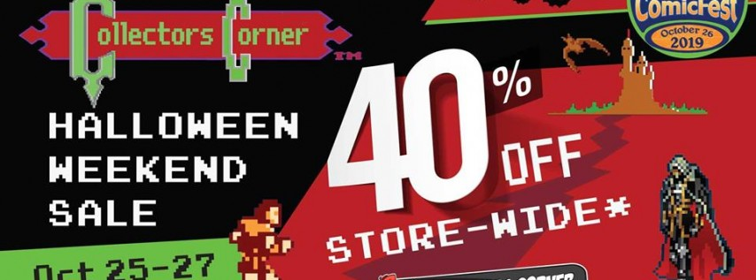 CC Halloween Weekend Sale! (10/25 - 10/27) 40% Off Store-wide!