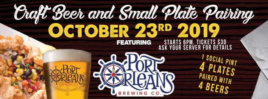 Port Orleans Brewing Beer Pairing - Biloxi Beach
