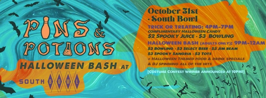 Pins & Potions Halloween Bash at South Bowl