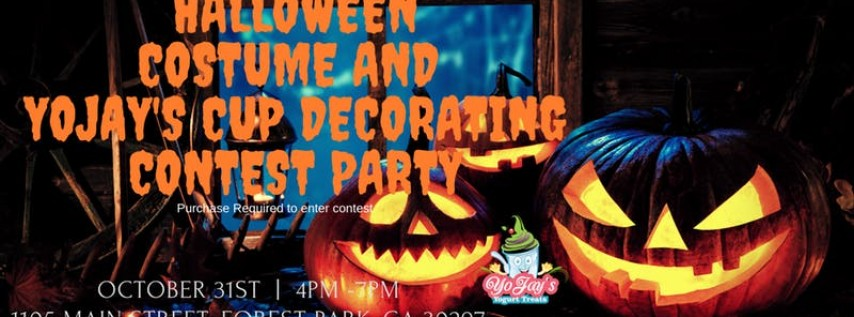 YoJay's Halloween Costume and YoJay's Cup Decorating Party