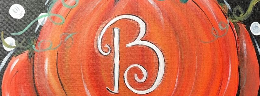 Initial Pumpkin Painting