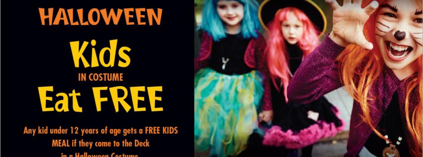 Kids in costume eat FREE at Daiquiri Deck!