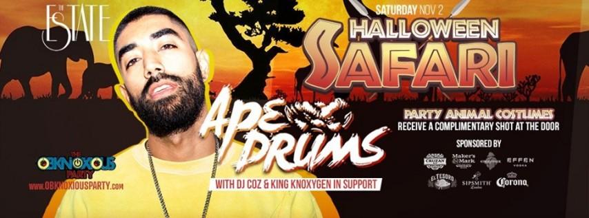 Halloween Night 3: On Safari w/ Ape Drums