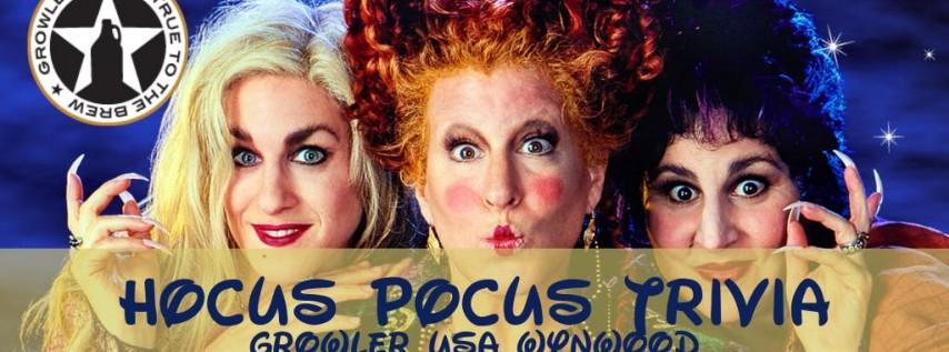 Hocus Pocus Trivia at Growler USA Wynwood