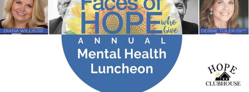Faces of Hope Mental Health Luncheon