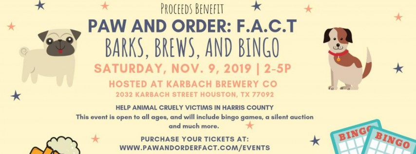 Paw and Order's 'Barks, Brews and Bingo' Fall Event