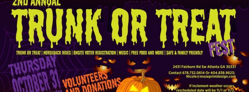 2ND Annual Moze Trunk or Treat Fest