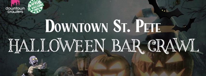 Downtown St. Pete's Halloween Bar Crawl with Novaween After Party and Party Bus!