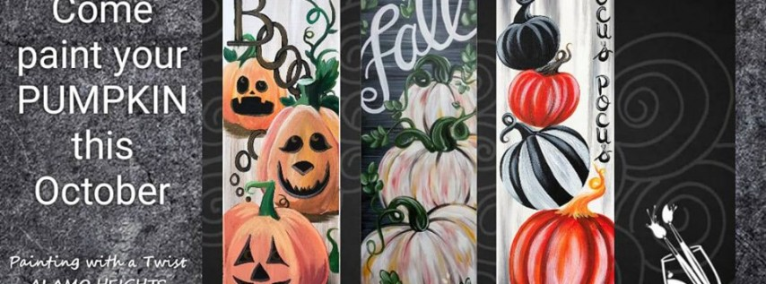 Pumpkins Paintings All Season Long! Come Paint Yours Today!
