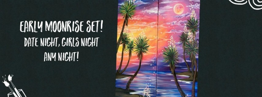New! Early Moonrise Set! Paint the Set with Someone Special!