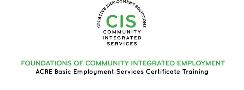 ACRE Training: Foundations of Employment. January 6th, Week-long course