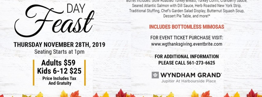 2019 Thanksgiving Feast at the Wyndham Grand Jupiter