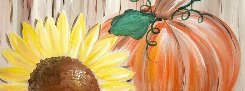 Rustic Sunflower Pumpkin