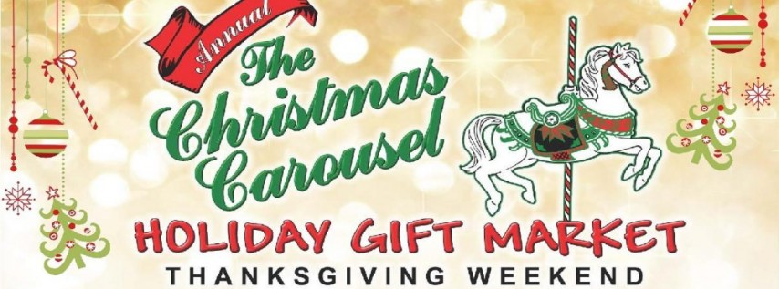 Christmas Carousel Holiday Gift Market