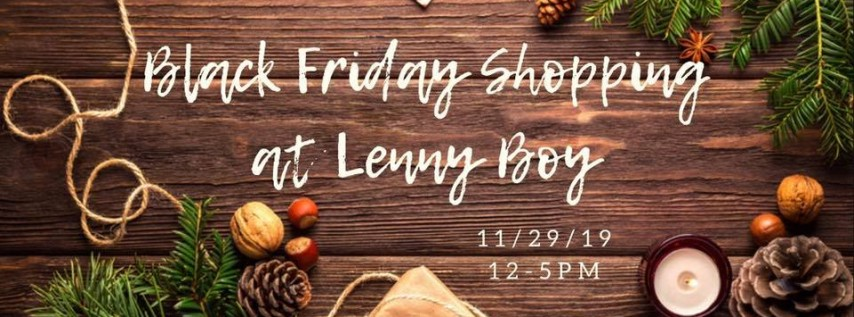 Black Friday at Lenny Boy