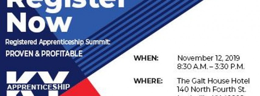 Registered Apprenticeship Summit: Proven & Profitable