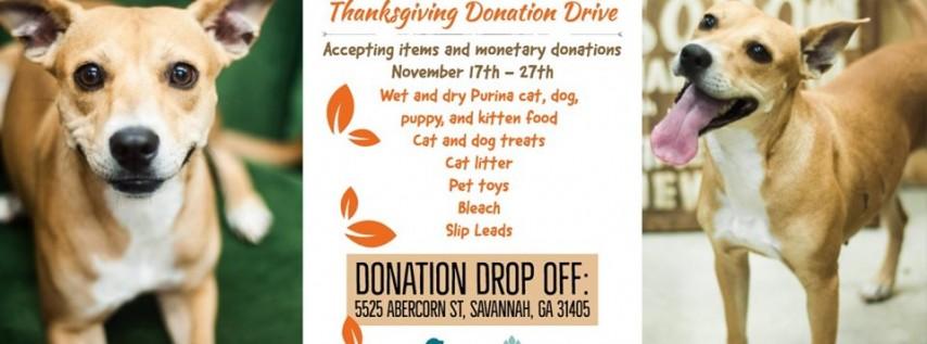 Thanksgiving Donation Drive