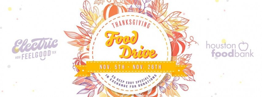 Thanksgiving Food Drive at Electric FeelGood